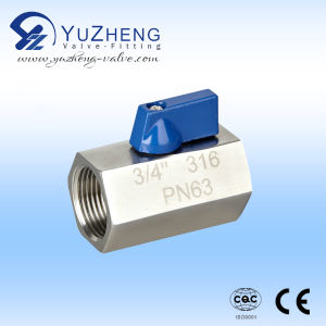 Industrial Stainless Steel Mini Ball Valve pictures & photos