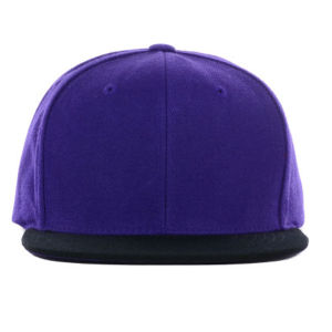 Purple and Black Custom Wholesale Brim Snapback Hats pictures & photos
