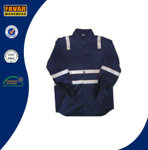 Children Pink & Navy Blue Wholesale with 100% Cotton Drill High Visibility Reflective Tape Shirt pictures & photos