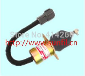 Fuel Shutdown Solenoid Valve 1751es-12A3uc12b1s SA-4673-S 129953-77811 for Hyundai Excavator Engine Model 12V pictures & photos