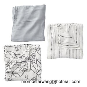 100% Cotton Muslin Baby Swaddle Blanket Nursing Cover with High Quality pictures & photos