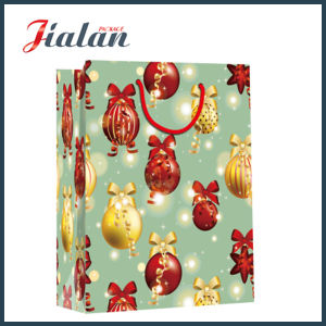 Merry Christmas Holiday Design Gift Package Cheap Paper Clothing Bag pictures & photos
