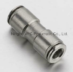 Brass Nickel Plated Equal Straight Push in Connectors pictures & photos