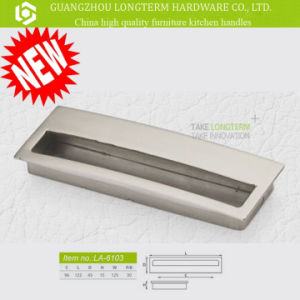 Custom Fancy Zinc Alloy Brushed Concealed Cabinet Handle pictures & photos