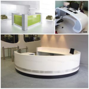 Creative Curved Solid Surface Reception Desk for Shopping Mall pictures & photos