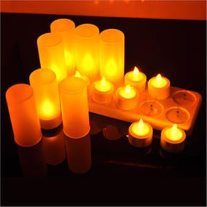 Outdoor LED Solar Pillar Candle Lights for Party Decorative Bar pictures & photos