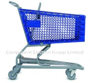 Easy-Moving Plastic Shopping Trolley with PU Castor pictures & photos
