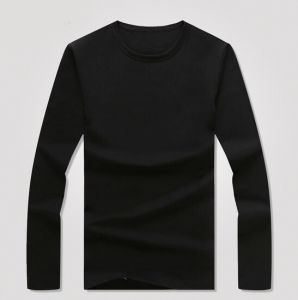 Cheap Customize Polyester/Spandex Men Black T Shirt pictures & photos