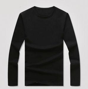 Cheap Customize Polyester/Spandex Men Black T Shirt pictures & photos