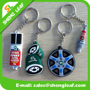 Promotion Gifts Custom-Made Rubber Keychains Product (SLF-KC034) pictures & photos