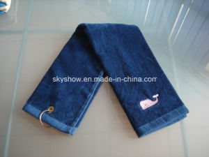 100% Cotton Embroidery Golf Towel (SST1017) pictures & photos