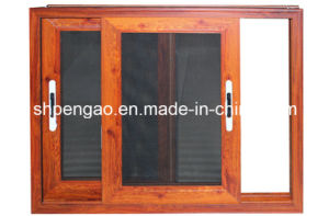 Lifelike Walnut Grain Window Aluminum Profile
