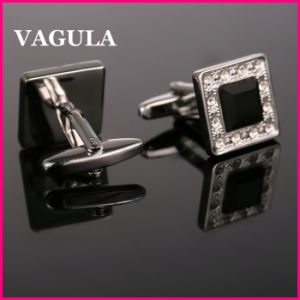 VAGULA Quality Crystal Silver Cufflinks (HL10162) pictures & photos