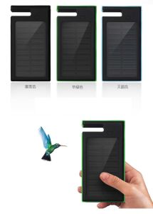 Ce, RoHS, FCC 8000mAh Mobile Holder Solar Power Bank with LED Flashlight pictures & photos