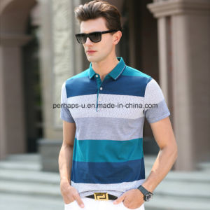 High Quality Colorful Stripes Men Polo Shirt Sports Wear pictures & photos