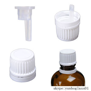 Black Tamperevident Screw Cap with PE Orifice for Essential Oil pictures & photos