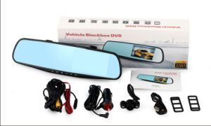 4.3′′ 1080P FHD Rearview Mirror Car DVR Dual Dash Camera Video Recorder Blackbox pictures & photos