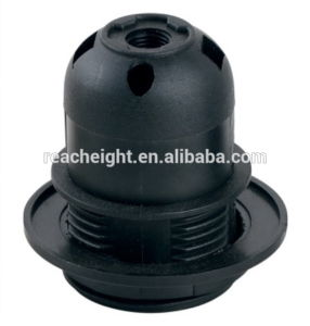 E27 Plastic Lamp Socket with Shade Ring pictures & photos