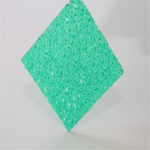 Diamond Plastic Sheet Green Embossed Polycarbonate Sheet pictures & photos