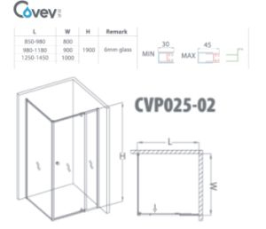 Hot Selling Bathroom Shower Screen in Australia (A-CVP025-02) pictures & photos
