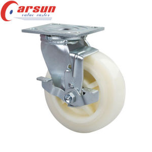 5inches Heavy Duty Rotating Nylon Wheel Caster with Nlyon Total Lock pictures & photos