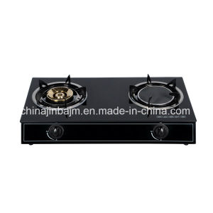 2 Burners Tempered Glass Top Brass 115 & Infrared 160 Gas Cooker/Gas Stove pictures & photos