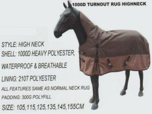 Horse Gear 10000 Turnout Rug Highneck pictures & photos
