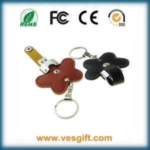 Wholesale New Leather USB Stick 64GB with High Speed pictures & photos