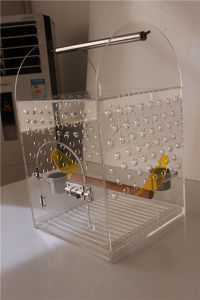 Middle Size of Acrylic Bird Cage, Lucite Bird Nest, Plexiglass Pet Cage pictures & photos