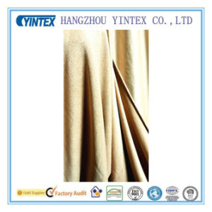 Micro Suede Solid Lightweight Polyester Spandex Fabric for Dress pictures & photos