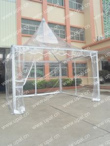 Outdoor Aluminum Frame Gazebo Transparent Pagoda Canopy pictures & photos