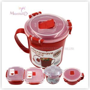 BPA Free 656ml Food Grade Plastic Microwave Soup Mug pictures & photos