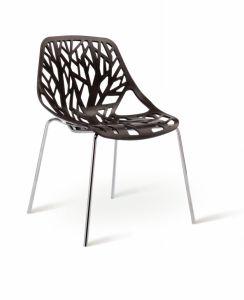 PP Back Metal Leg Garden Plastic Chair pictures & photos