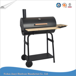 Classic Black Barrel Grill Trolley Charcoal Grill