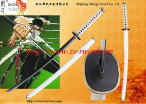 Japanese Anime Sword White Original Wado Ichimonji Steel Unsharpened Katana