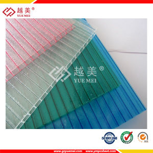 Double Wall Clear Polycarbonate Sheet Plastic Hollow Sheet with UV Coated Greenhouse Panels pictures & photos