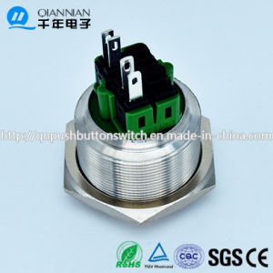 28mm Domed Head 4pin Terminal with Connector Push Button Switch pictures & photos