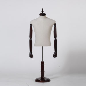 Half Body Male Mannequin with Wooden Arms pictures & photos