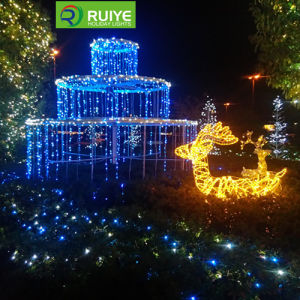 LED Waterfall Light Curtain Decoration Hotel Lights pictures & photos