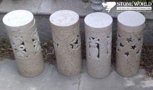Natural Grey Granite Stone Lantern for Outside Garden (LAL08) pictures & photos