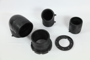 Black HDPE Fusion Stub Flange (pipe fittings) for Pipe Connection pictures & photos