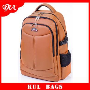 Cl3005 Yellow Multifunctional Double Zipper School Laptop Backpack