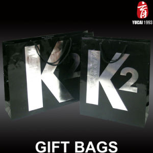 Black Paper Gift Bag Printed Paper Bag pictures & photos