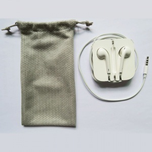 Custom Portable Earbud Mesh Pouch pictures & photos