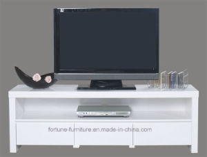 Modern Wooden UV High Gloss White TV Cabinet (5028) pictures & photos