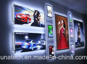 Factory Sell Slim Crystal LED Acrylic White/RGB Light Box pictures & photos