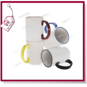 11oz Sublimation Coated Photo Printed Ear Color Mug pictures & photos