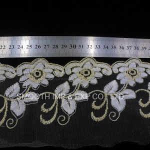 Clothing Accessories Net Yarn Embroidery Lace Fabric Textile Water-Soluble Trimmings pictures & photos