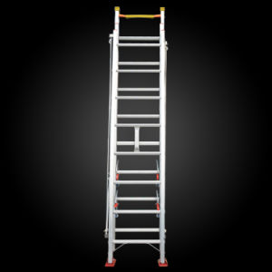 Made in China Multi-Purpose Extension Aluminum Rope Fire-Fighting Ladder pictures & photos