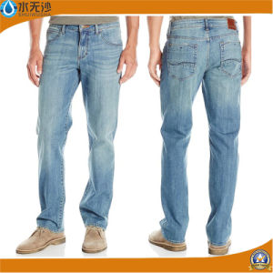 New Mens Slim Fit Straight Denim Trousers Blue Jeans pictures & photos